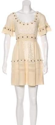 Temperley London Lace-Paneled Mini Dress