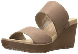 Crocs Women's Leigh Ii 2-Strap W Wedge Sandal