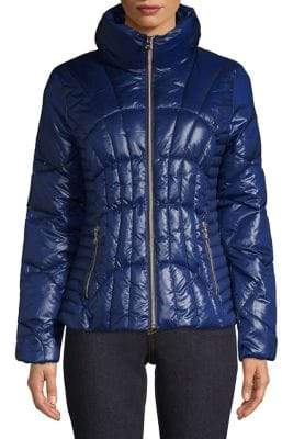 GUESS Zip Front Puffer Jacket