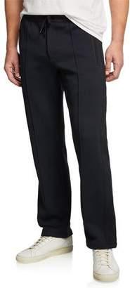 Theory Men's Quilted Ponte Pelham Slim Lounge Pants