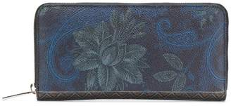 Etro floral paisley zipped wallet