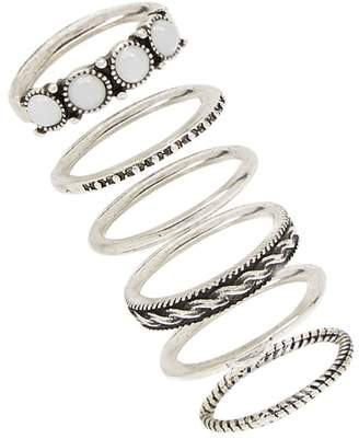 Forever 21 Etched Burnished Ring Set