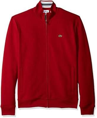Lacoste Men's Long Sleeve Full Zip Pique Fleece Sweatshirt