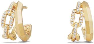 David Yurman Stax Double Hoop Earrings with Diamonds
