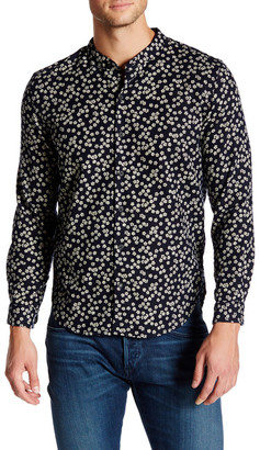 3x1 NYC Mandarin Collar Floral Print Long Sleeve Shirt $265 thestylecure.com