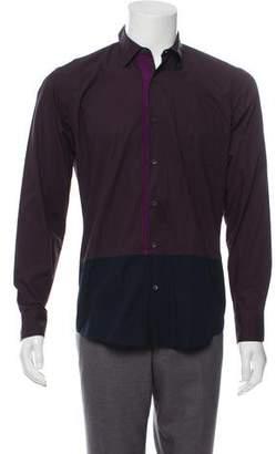 Dries Van Noten Two-Tone Button-Up Shirt