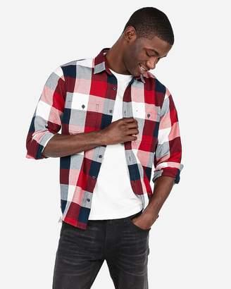 Express Check Plaid Flannel Shirt