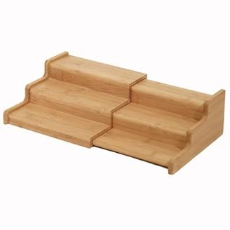 Seville Classics 3-Tier Expandable Bamboo Step Shelf Spice Rack