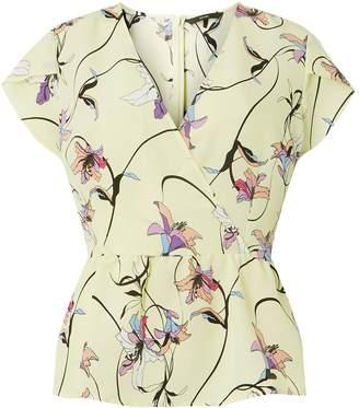 Dorothy Perkins Womens **Vero Moda Lemon Print Wrap Top