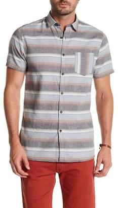 Indigo Star Arthur Short Sleeve Yarn Dyed Tailored Fit Shirt