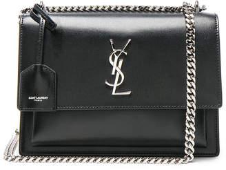 Saint Laurent Medium Monogramme Sunset Chain Bag in Black | FWRD