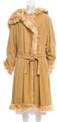 Fendi Vintage Fur-Trimmed Coat