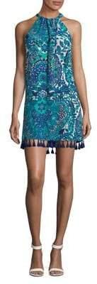 Trina Turk California Dreaming Rancho 3 Floral Silk Halter Dress