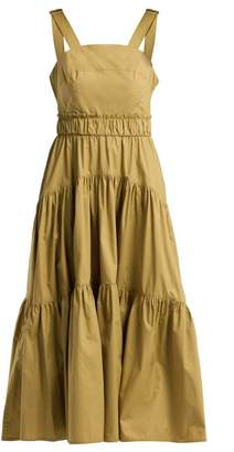 Proenza Schouler - Tiered Cotton Poplin Dress - Womens - Khaki
