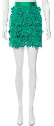 Milly Wool Mini Skirt