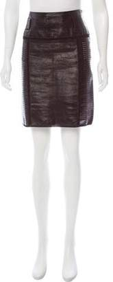 Proenza Schouler Perforated Patent Leather Skirt