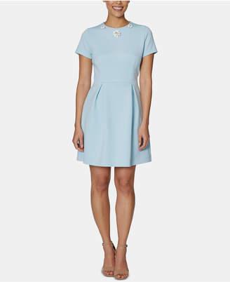 Betsey Johnson Embellished-Collar A-Line Dress