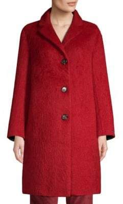Max Mara Livrea Three-Button Notch Collar Coat