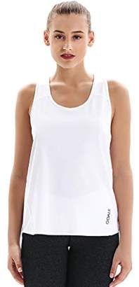 7Goals Women's Solid Polyester Workout Tank Top