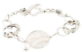 John Hardy Pearl & Mother of Pearl Naga Dragon Link Bracelet