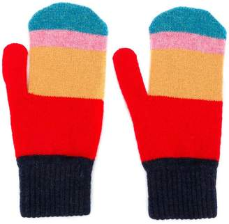 Paul Smith striped mittens