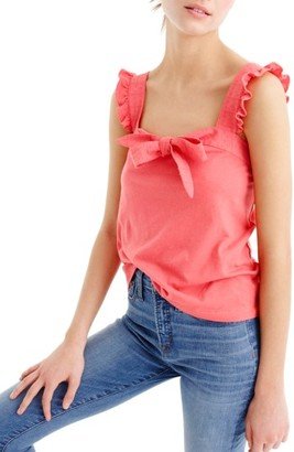 Women's J.crew Embroidered Trim Bow Top $42.50 thestylecure.com