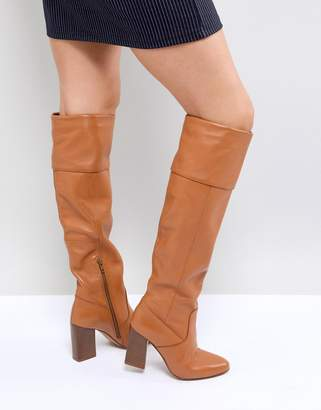 Asos Cerys Leather Knee Boots