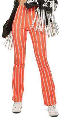 Topshop Oxford Stripe Flare Trousers