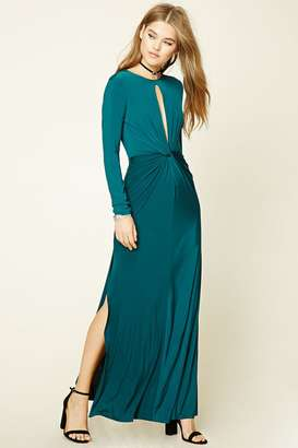 FOREVER 21+ Twist-Front Maxi Dress $22.90 thestylecure.com
