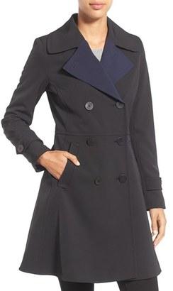 Women's Trina Turk 'Tara' Fit & Flare Rain Coat $450 thestylecure.com