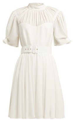 Emilia Wickstead Corinne High Neck Mini Dress - Womens - White