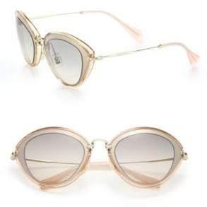 32e2d8621f37 Miu Miu Pink Women s Sunglasses - ShopStyle