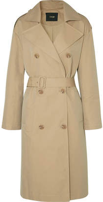 Maje Belted Cotton-canvas Trench Coat - Beige