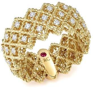 Roberto Coin 18K Yellow Gold New Barocco Three Row Diamond Ring