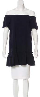 Rebecca Taylor Off-the-Shoulder Short Sleeve Tunic