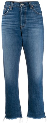Levi's cropped straight-leg jeans