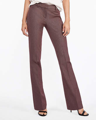 Express Petite Mid Rise Birdseye Barely Boot Columnist Pant