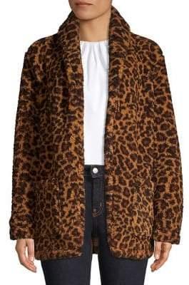 Lord & Taylor Leopard Print Teddy Jacket