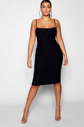 boohoo Plus Strappy Midi Dress