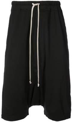 Rick Owens tie waist drop-crotch shorts