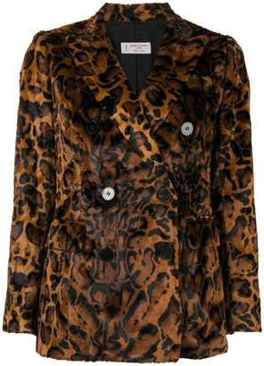 Alberto Biani leopard faux fur jacket