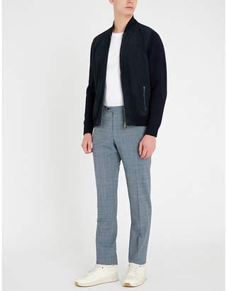 Corneliani Suede and wool bomber jacket