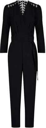 Sandro Wrap-Front Cut-Out Jumpsuit