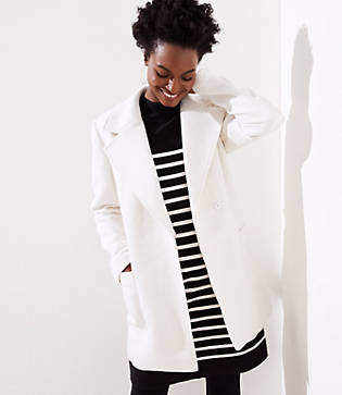 LOFT Petite Twill Wrap Coat