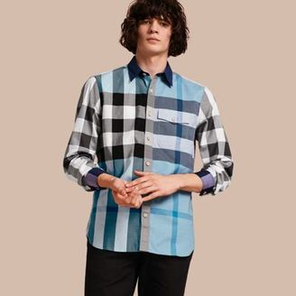 Burberry Check Cotton Poplin Shirt $295 thestylecure.com