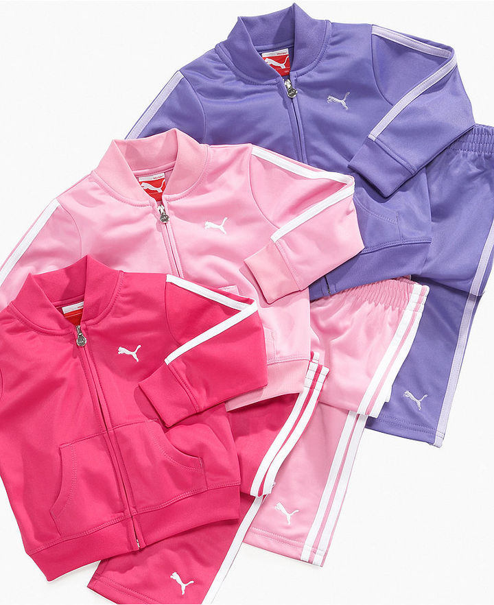 Puma Baby Set, Baby Girls Tricot Jacket and Pants