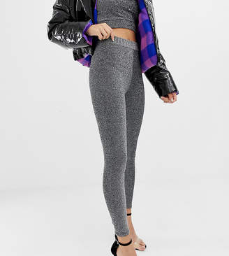 Collusion COLLUSION high waisted leggings in sparkle