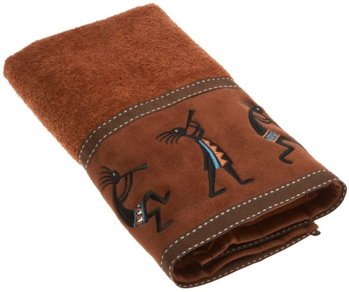 Avanti Kokopelli Hand Towel, Copper