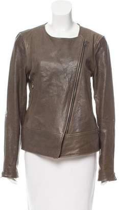 Tibi Asymmetrical Leather Jacket