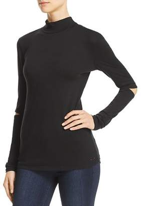 N. PHILANTHROPY River Mock-Neck Cutout Sleeve Tee